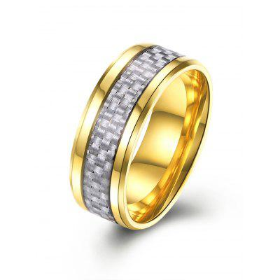 Shiny Weaving Pattern Metallic Ring