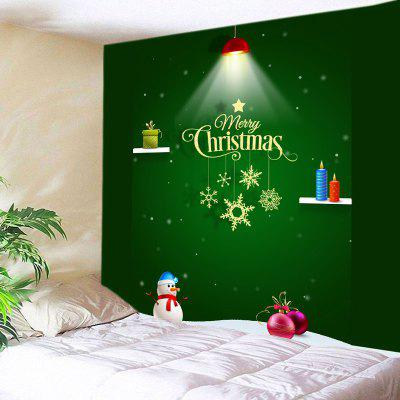 Wall Hanging Art Merry Christmas Light Print Tapestry