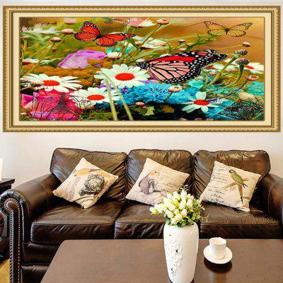 Multifunction Floral and Butterflies Stick-on Wall Art Painting