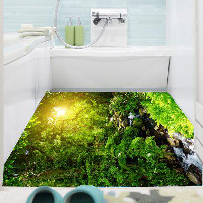 Forest Stream Pattern Decorative Wall Art Sticker