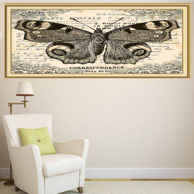 Vintage Butterfly Pattern Decorative Wall Art Painting