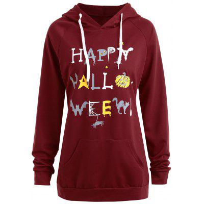 Hoodie Happy Happy Pumpkin Plus Size