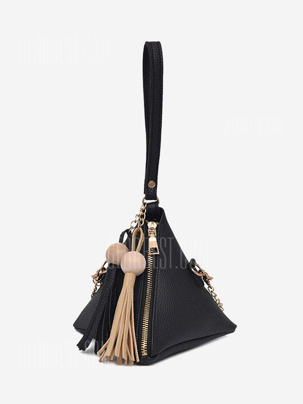 Stereo Triangle Geometric Tassel Tote Bag