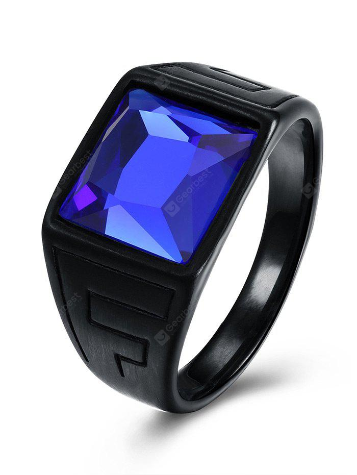 Faux Square Sapphire Finger Ring
