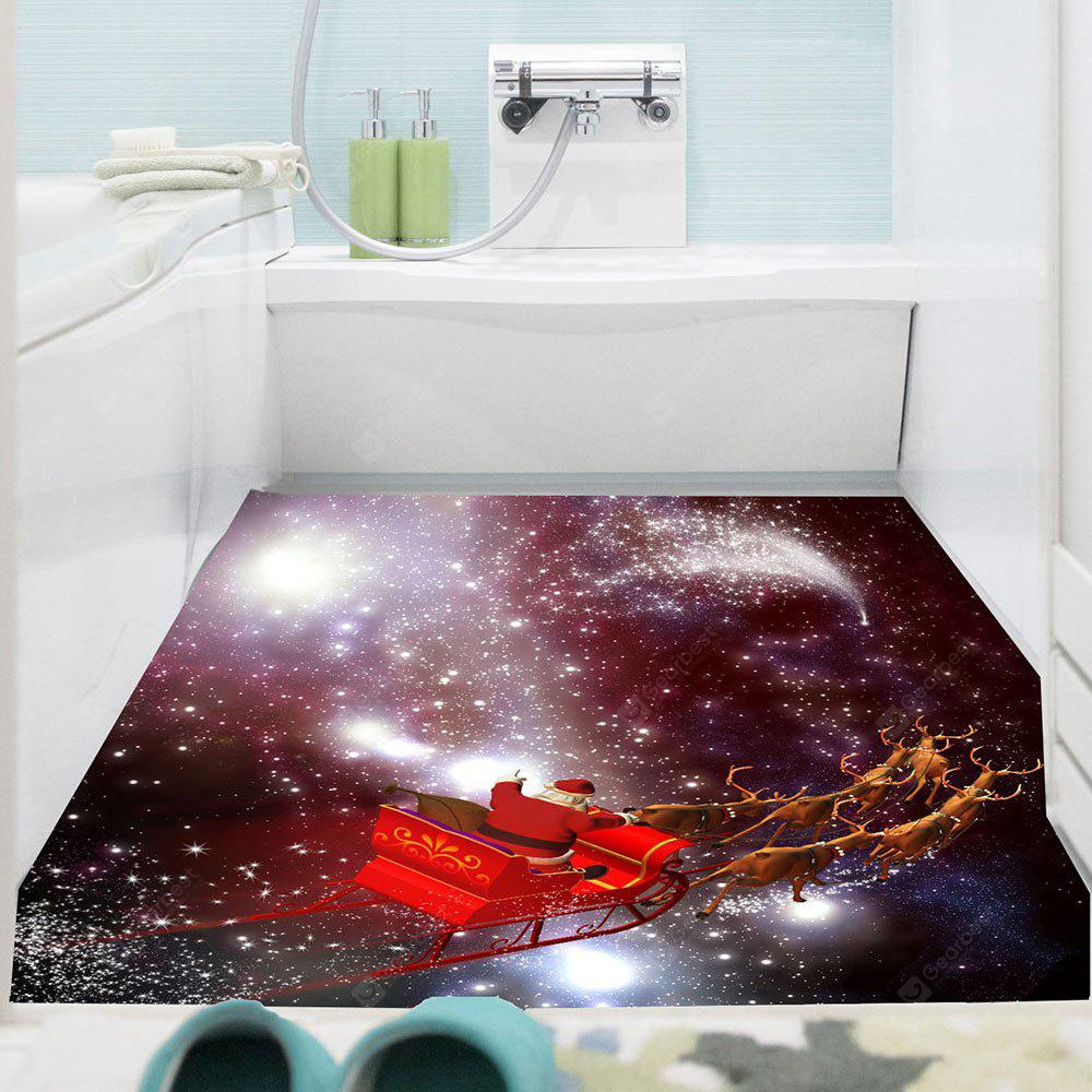 COLORFUL Starry Sky Christmas Sled Patterned Decorative Wall Art Sticker