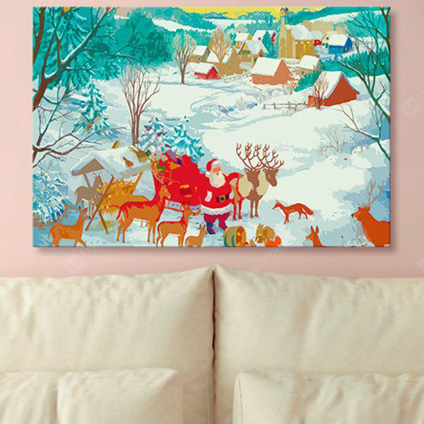 Wall Art Christmas Snowscape Print Canvas Painting