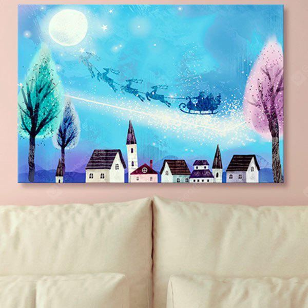 Christmas Sled Print Wall Art Canvas Painting