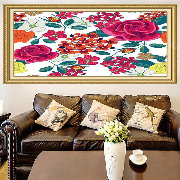 Floral Pattern Removable Multifunction Stick-on Wall Art Painting