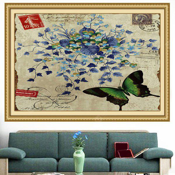 Butterfly Flowers Pattern Decorative Wall Art Painting