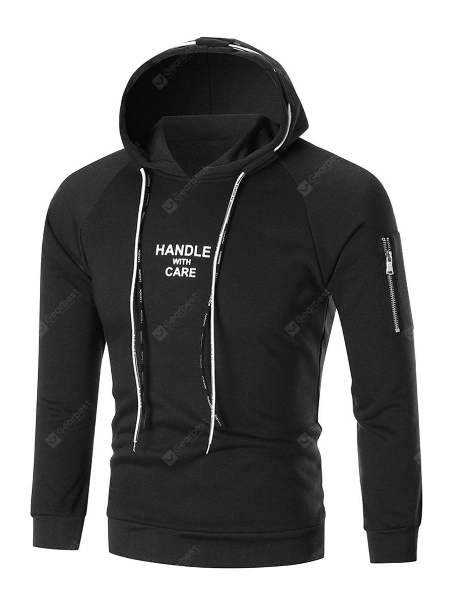 Double Drawstring Graphic Hoodie