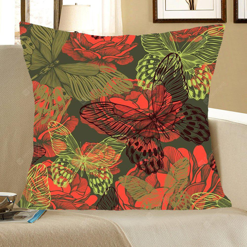 Artistic Butterfly Pattern Decorative Pillow Case