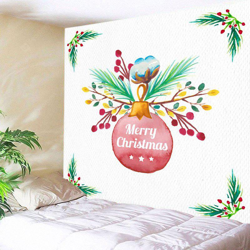 Wall Hanging Art Merry Christmas Bauble Print Tapestry