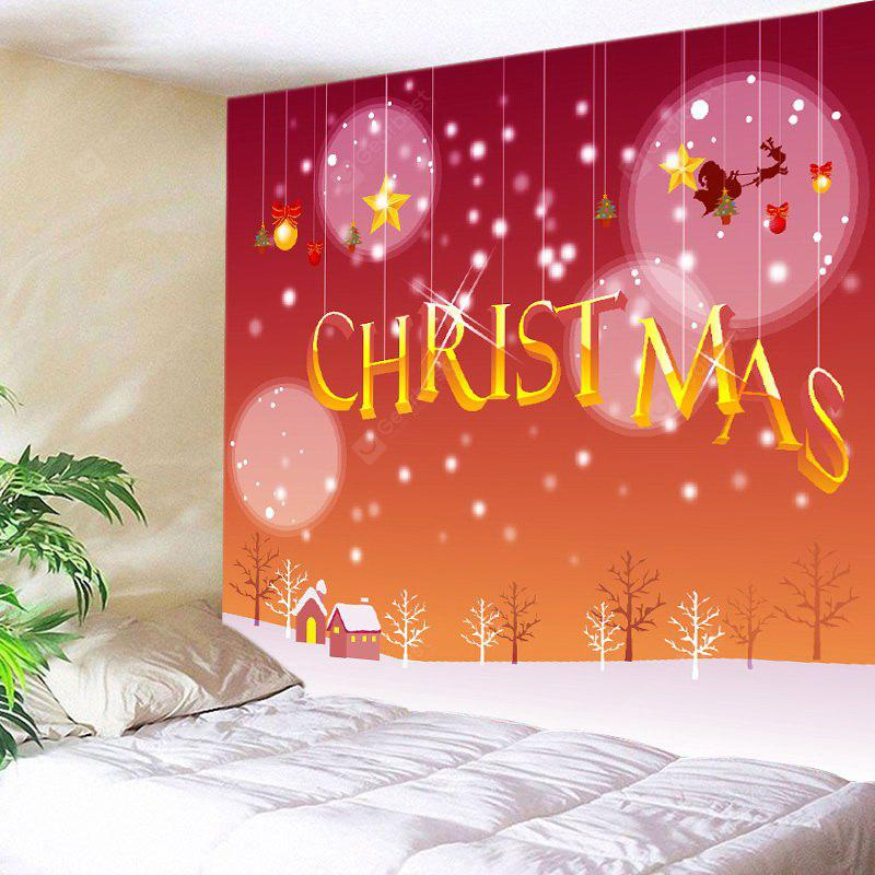 Snowy Christmas Print Tapestry Wall Hanging Decoration
