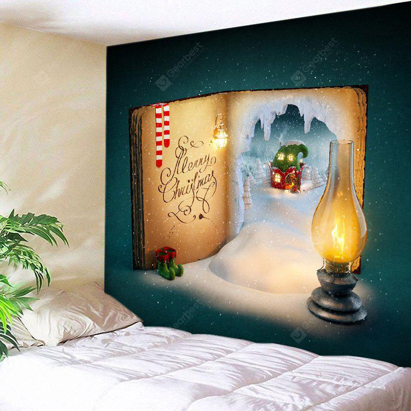 Wall Hanging Art Snowy Book Christmas Print Tapestry