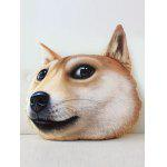3D Dog Pattern Funny Coin Purse - YELLOW