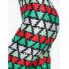 Christmas Tree Print Skinny Leggings - COLORMIX