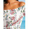 Off Shoulder Front Slit Floral Beach Dress - FLORAL