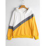 Three Tone Drawstring Hoodie - MULTI