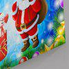 Santa Claus Print Wall Art Canvas Christmas Painting - ICE BLUE