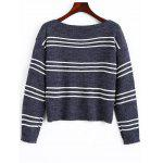 Stripes Long Sleeve Pullover Sweater - STRIPE