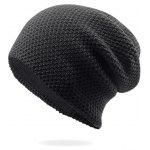 Outdoor Thicken Slouchy Knit Beanie - BLACK