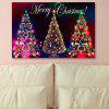 Neon Christmas Tree Print Canvas Wall Art Painting - COLORFUL