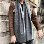 Outdoor Soft Fringed Shawl Scarf - GRAY