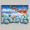 Christmas Sled Print Snowscape Wall Art Canvas Painting - BLUE