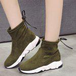 Buy Platform Sport Ankle Boots 36 ARMY GREEN
