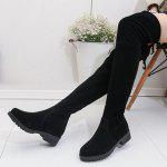 Buy Low Heel Over-the-Knee Tall Boots 39 BLACK