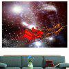 Starry Sky Christmas Sled Patterned Decorative Wall Art Sticker - COLORFUL