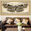 Vintage Butterfly Pattern Decorative Wall Art Painting - YELLOW