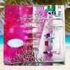 Christmas Snowscape Water Absorption Bath Towel - PINK