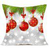 Christmas Baubles Pattern Decorative Pillow Case - COLORFUL