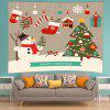 Wall Hanging Art Merry Christmas Cartoon Print Tapisserie - MULTICOLORE