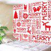 Wall Hanging Art Merry Christmas Letter Print Tapestry - RED