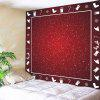Wall Hanging Art Snowy Christmas Print Tapestry - DEEP RED