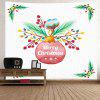 Wall Hanging Art Merry Christmas Bauble Print Tapestry - BRANCO