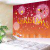 Snowy Christmas Print Tapestry Wall Hanging Decoration - VERMELHO
