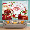 Wall Hanging Art Christmas New Year Print Tapestry - RED