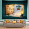 Wall Hanging Art Snowy Book Christmas Print Tapestry - YELLOW