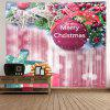 Wall Hanging Art Presentes de Bauble de Natal Print Tapestry - ROSA