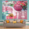 Wall Hanging Art Christmas Bauble Gifts Print Tapestry - PINK
