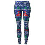 Santa Claus Christmas Tree Leggings - BLUE