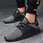 Buy Round Toe Running Breathable Mesh Sneakers 40 STRIP PATTERN
