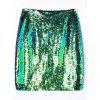A-line Glitter Sequins Skirt - COLORMIX