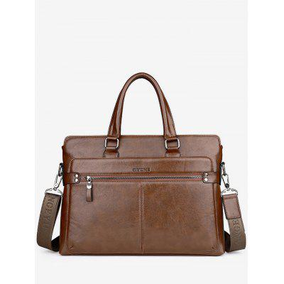 Top Handle PU Leather Handbag
