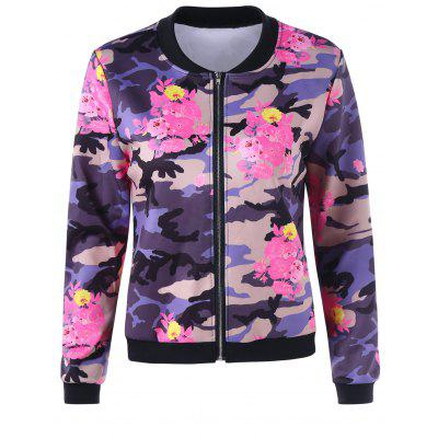 Floral Camouflage Jacket