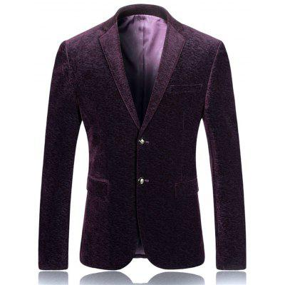 Lapel Single Breasted Vintage Corduroy Blazer