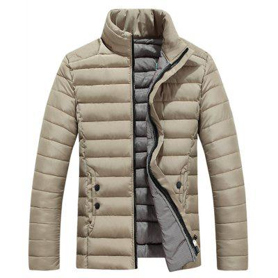 Funnel Collar Zip Up Padded Jacket